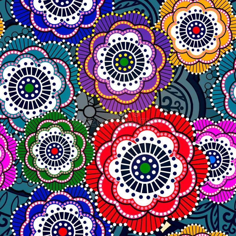 Modèle sans couture avec les fleurs abstraites. ENV 10 illustration libre de droits