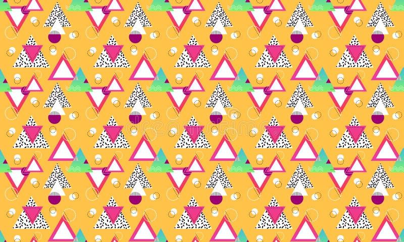 Modèle sans couture avec les formes et symboles graphiques à traits simples géométriques illustration stock