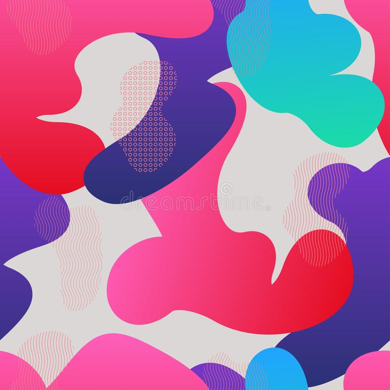Modèle sans couture avec les formes liquides de gradient illustration libre de droits