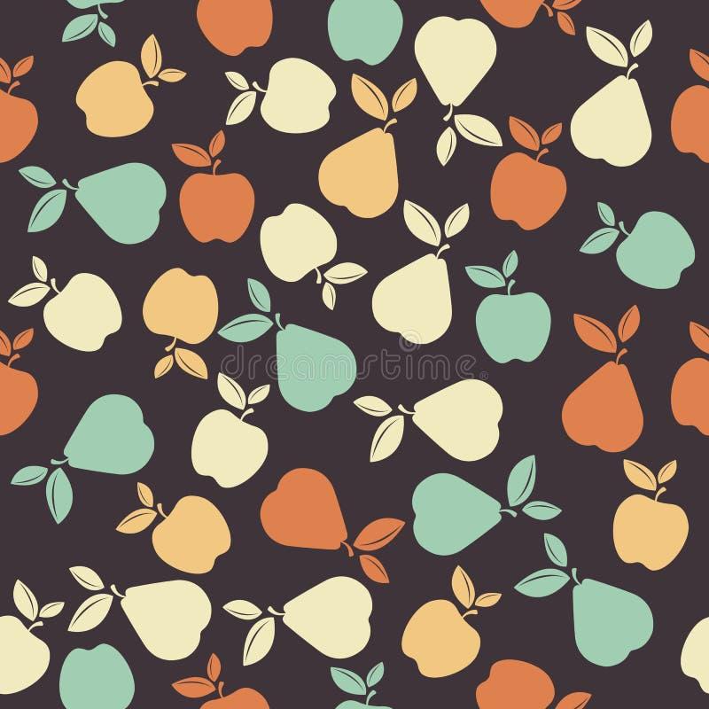 Modèle sans couture avec les fruits colorés illustration stock