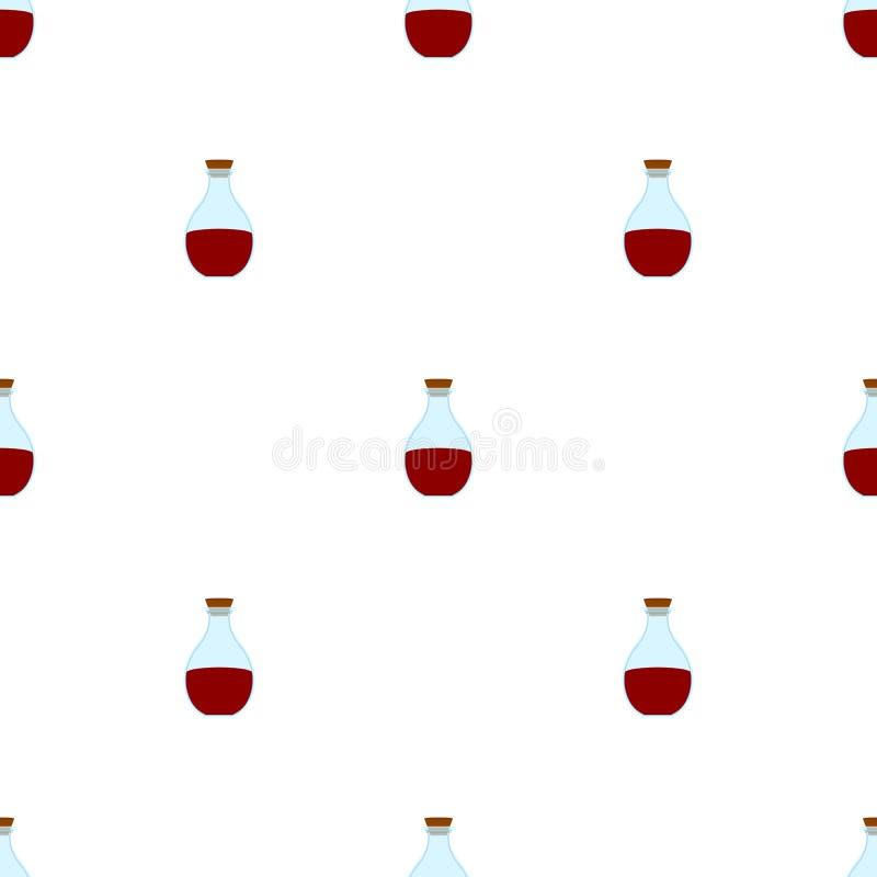 Modèle sans couture avec les icônes rouges de breuvage magique Flacon magique d'élixir de guérison de bande dessinée Illustration illustration de vecteur