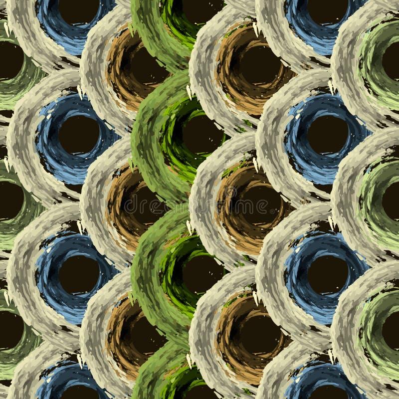 Modèle sans couture avec les lignes abstraites, cercles photographie stock libre de droits