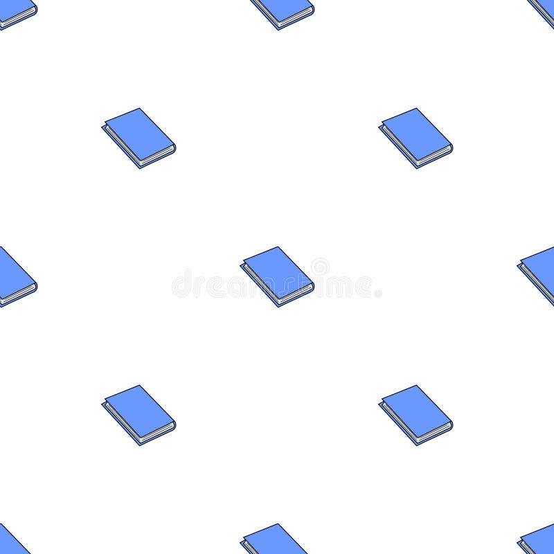 Modèle sans couture avec les livres bleus sur le fond blanc Illustration de vecteur illustration de vecteur