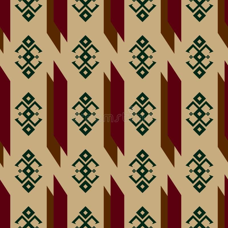 Modèle sans couture avec les ornements indiens indigènes traditionnels illustration stock