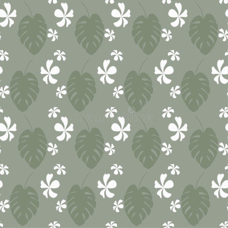 Modèle sans couture avec les palmettes exotiques et tropical tropicaux illustration libre de droits