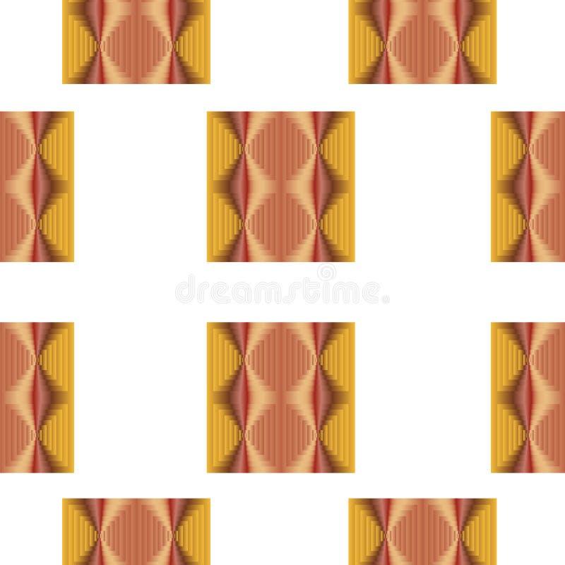 Modèle sans couture avec les places abstraites dans des couleurs jaunes et brunes illustration libre de droits