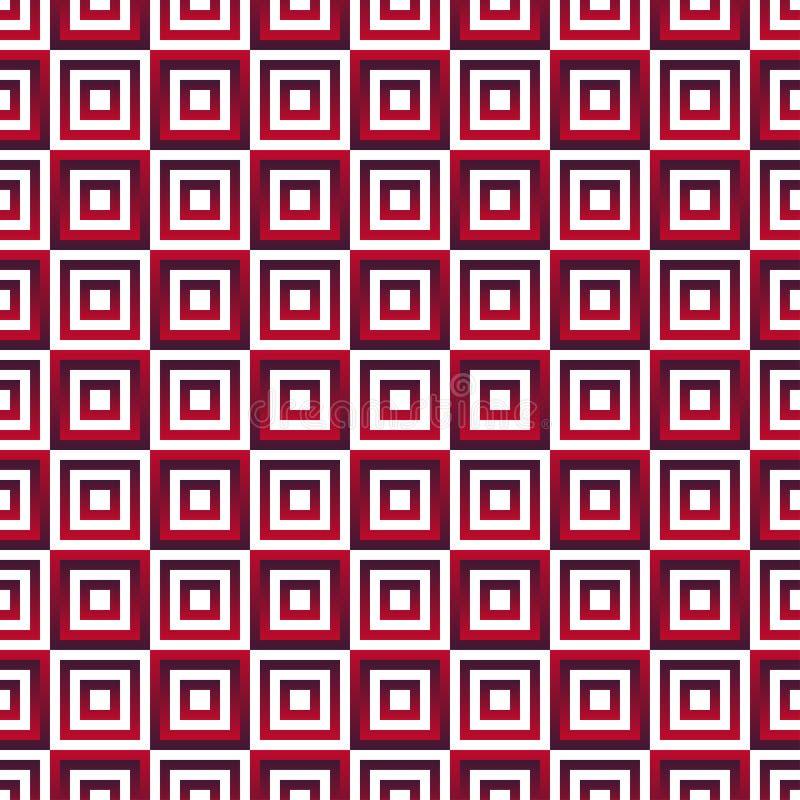 Modèle sans couture avec les places rouges de gradient illustration libre de droits