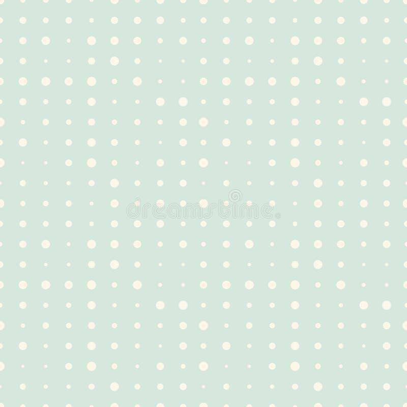 Modèle sans couture avec les points comiques tramés beiges sur le fond en bon état illustration libre de droits