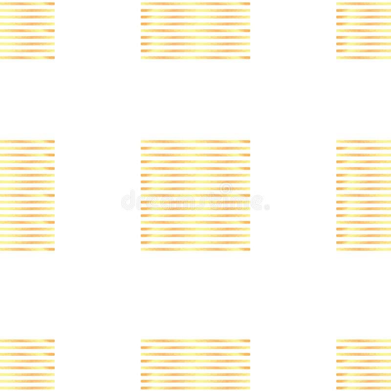 Modèle sans couture avec les rayures géométriques abstraites ornement, or illustration libre de droits