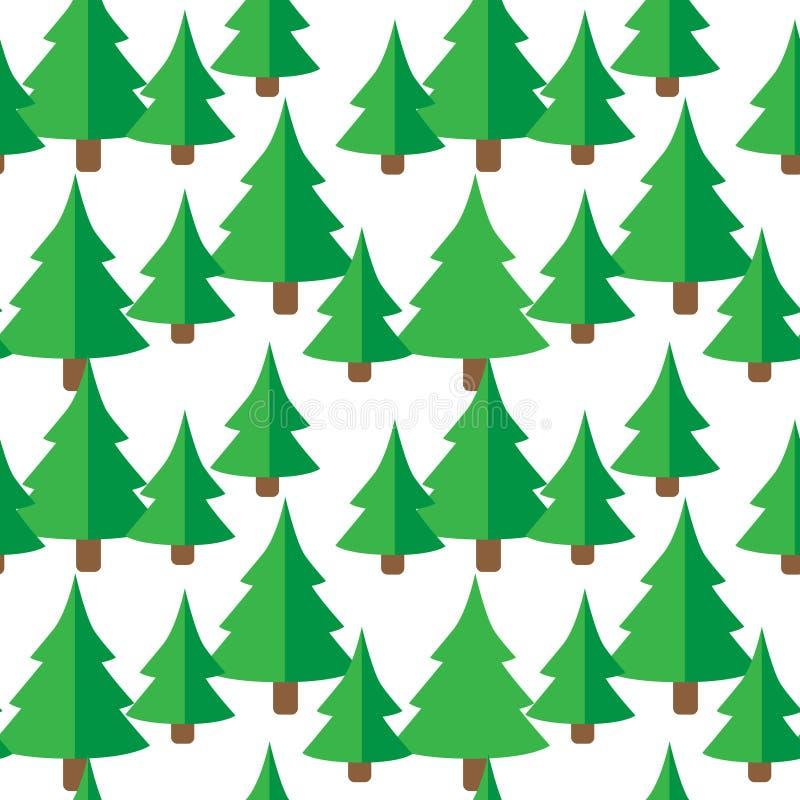 Modèle sans couture avec les sapins verts illustration libre de droits