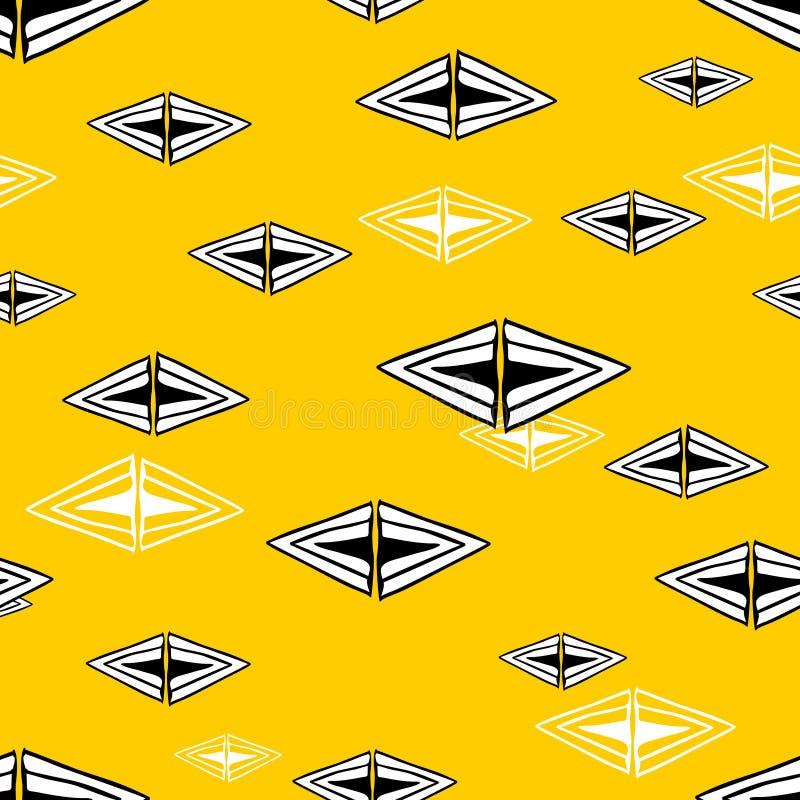 Modèle sans couture avec les triangles tirées par la main Illustration de griffonnage de vecteur illustration libre de droits