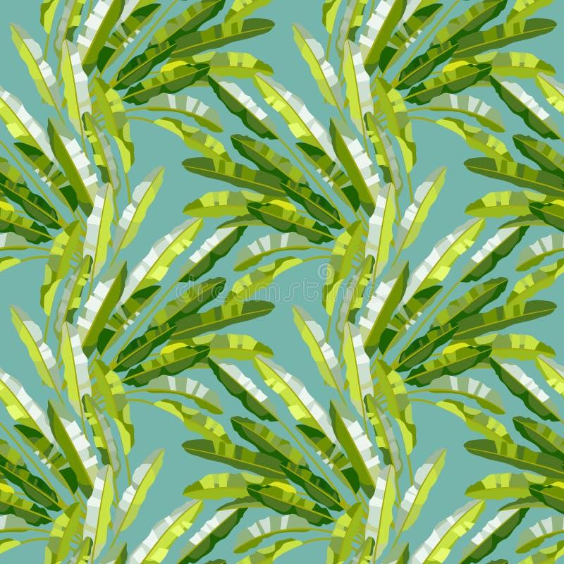 Modèle sans couture avec les usines tropicales illustration de vecteur