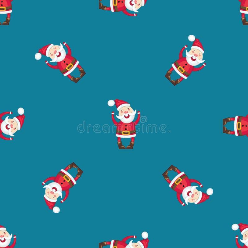 Modèle sans couture avec Santa Claus photo libre de droits