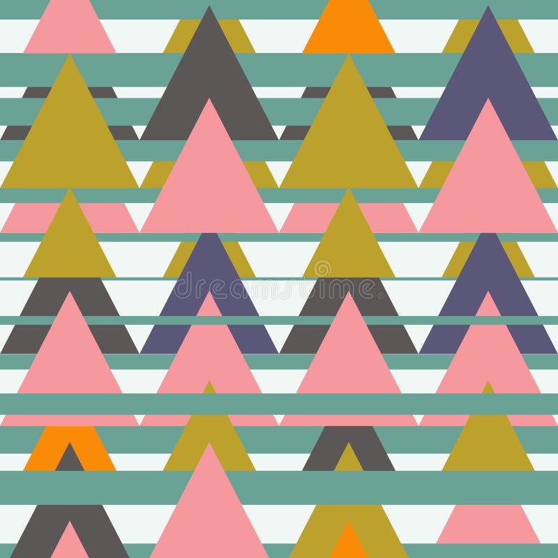 Modèle sans couture aztèque avec des triangles Texture géométrique abstraite ethnique Utilisé pour le papier peint, fond de page  illustration stock
