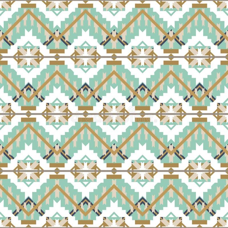 Modèle sans couture aztèque sur le fond blanc Texture géométrique abstraite ethnique Tissu tiré par la main de Navajo Utilisé pou illustration libre de droits