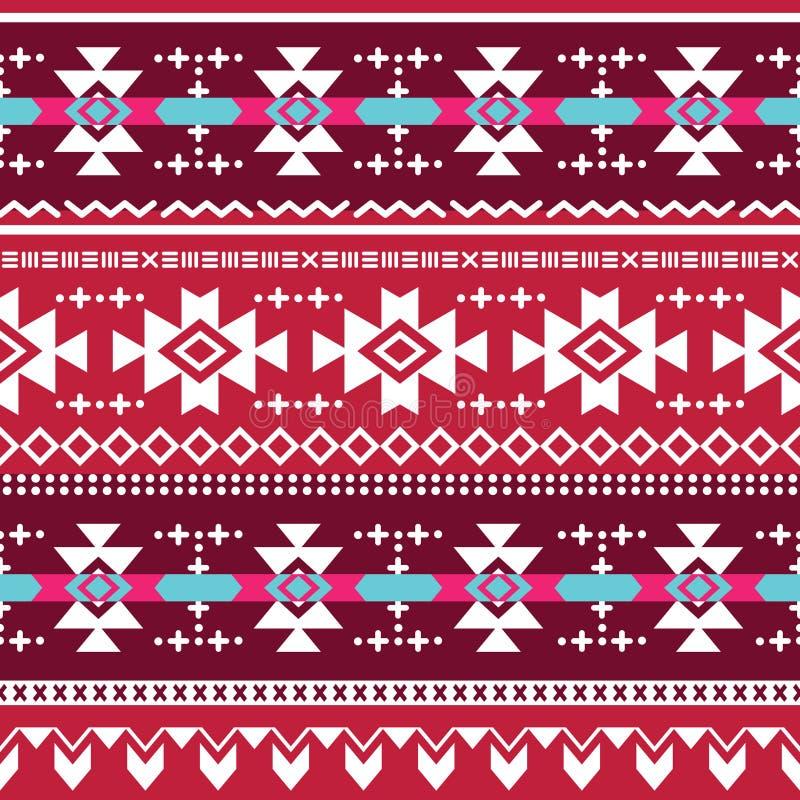 Modèle sans couture aztèque tribal illustration stock