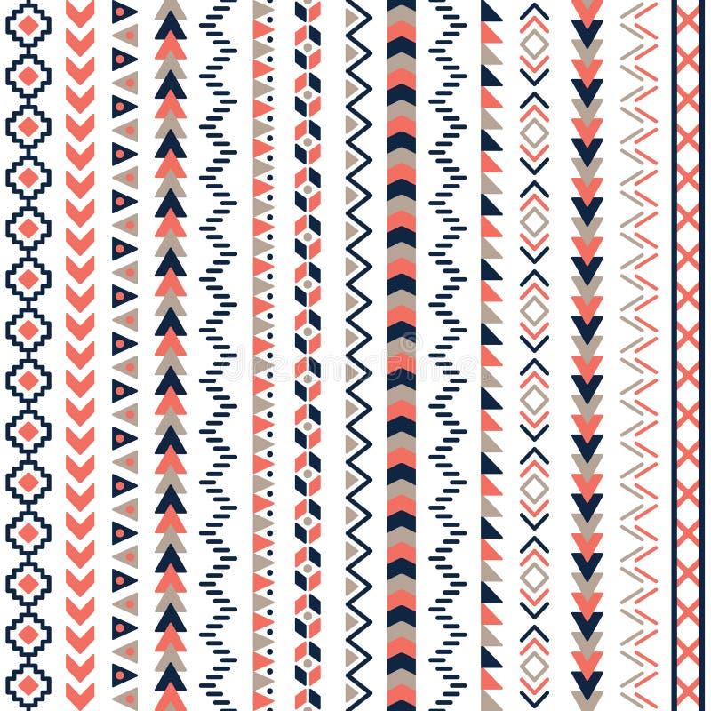 Modèle sans couture aztèque tribal de vecteur illustration stock