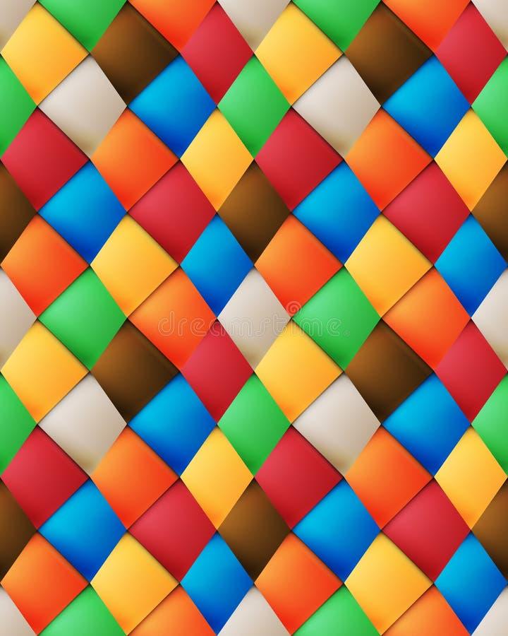 Modèle sans couture bariolé de patchwork illustration libre de droits