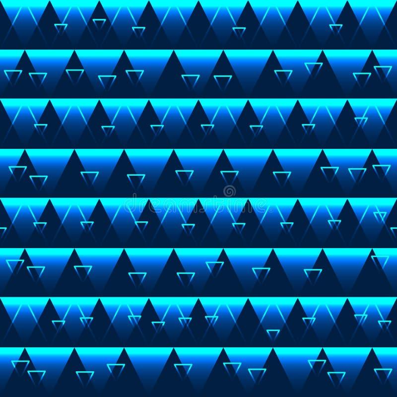 Modèle sans couture bleu d'effet de triangle illustration libre de droits