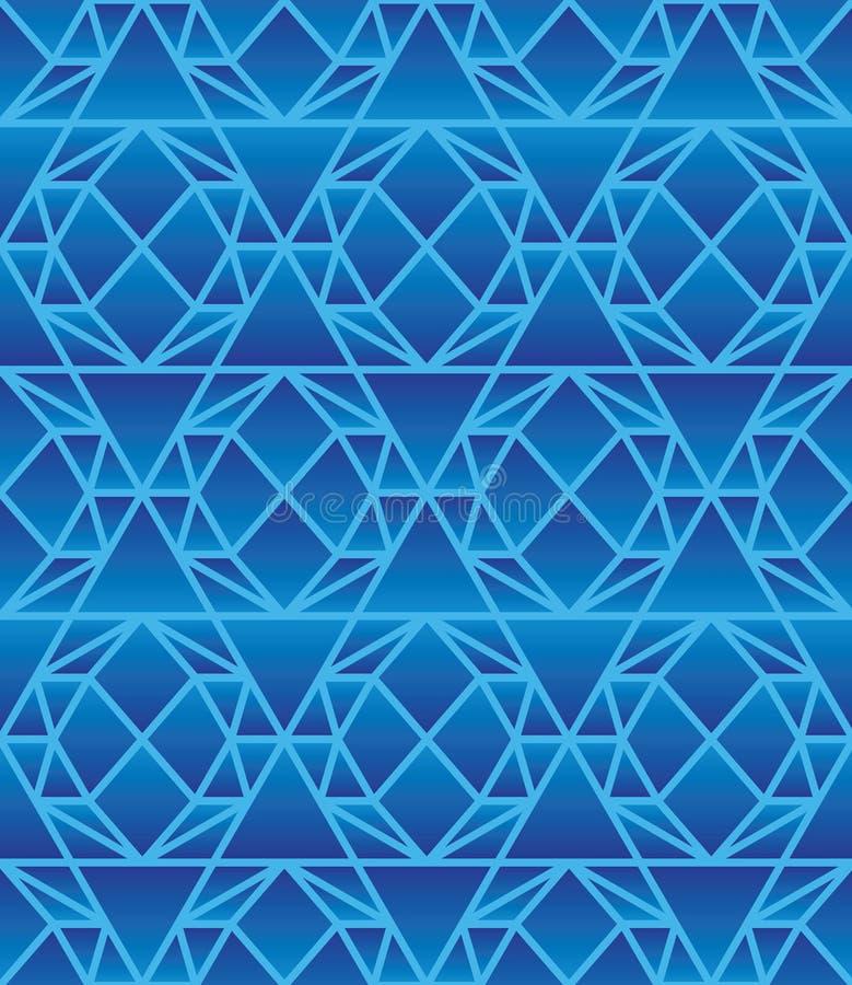 Modèle sans couture bleu de diamant d'aspiration de l'hexagone 6 illustration stock