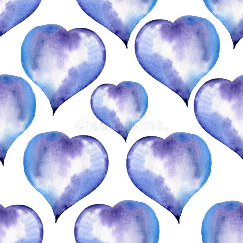 Download Modèle Sans Couture Bleu Des Coeurs Pour Valentine Illustration Stock - Illustration du doux, célébration: 77158334