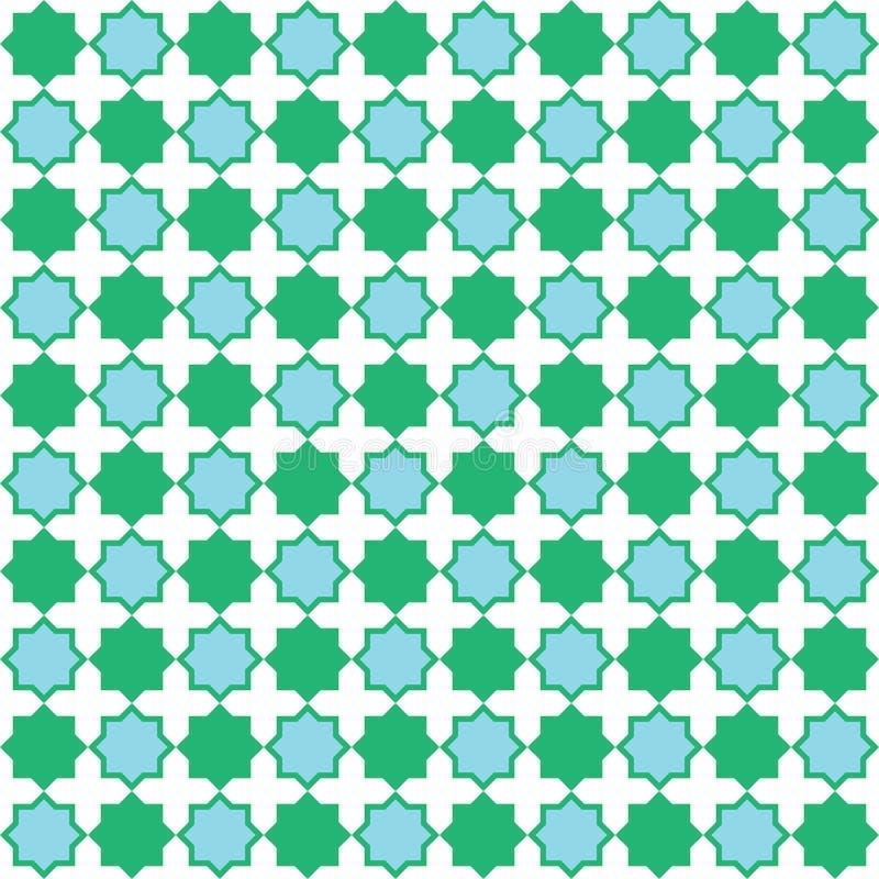 Modèle sans couture bleu et vert illustration libre de droits