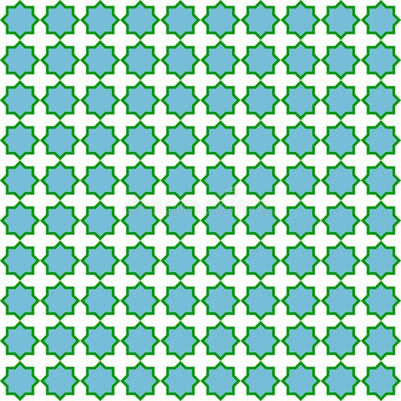 Modèle sans couture bleu et vert illustration de vecteur
