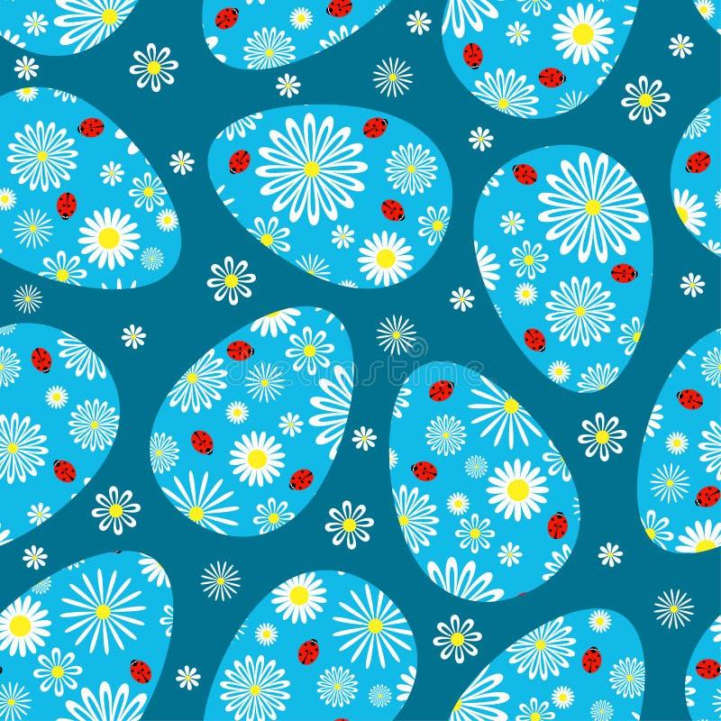Modèle sans couture bleu-foncé de Pâques. illustration libre de droits