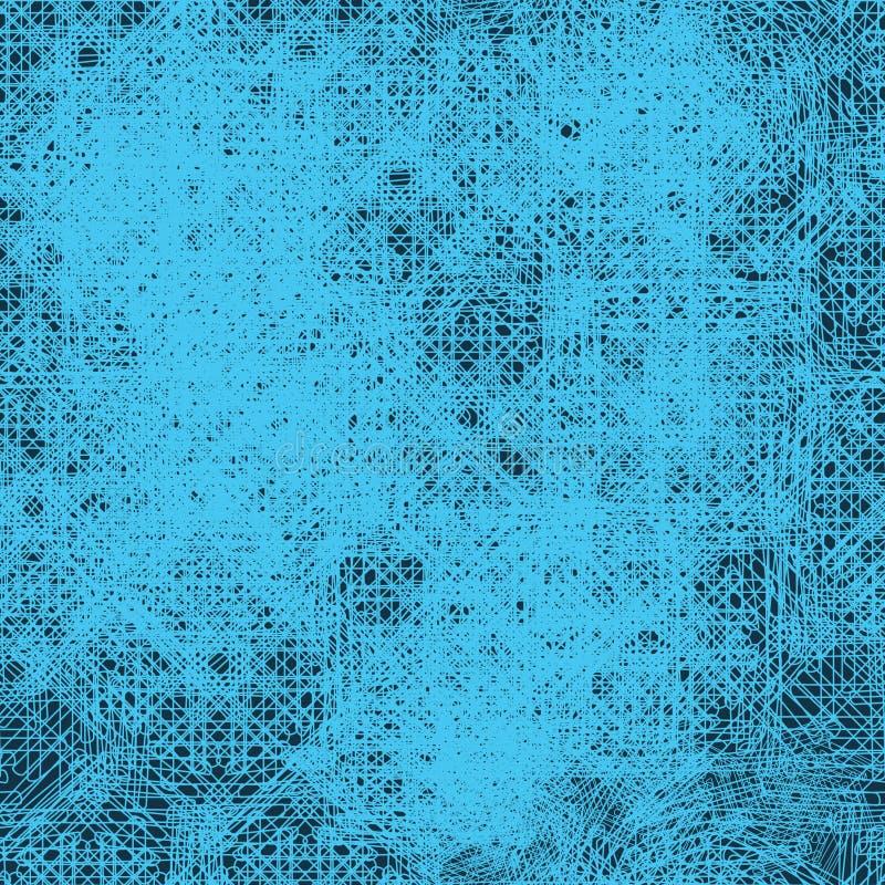 Modèle sans couture bleu géométrique abstrait simulant la texture de textile photographie stock