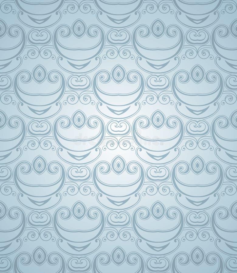 Modèle sans couture bleu poussiéreux illustration libre de droits