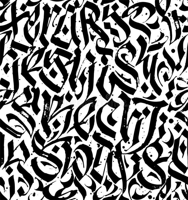 Modèle sans couture calligraphique abstrait illustration libre de droits