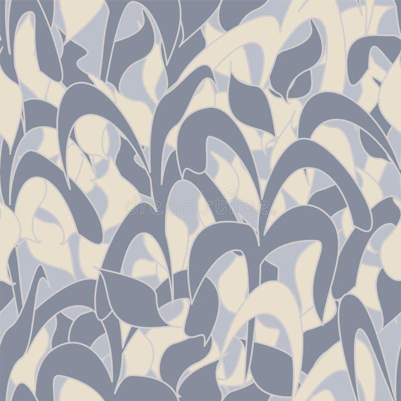 Modèle sans couture, camouflage d'hiver des feuilles tubulaires pour des tissus, papiers peints, nappes, copies et conceptions ab illustration libre de droits