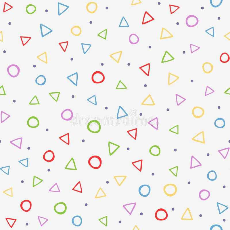 Modèle sans couture coloré avec des formes géométriques Dessiné à la main illustration de vecteur