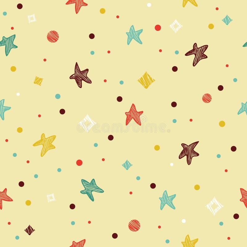 Modèle sans couture coloré de fête avec l'étoile illustration de vecteur