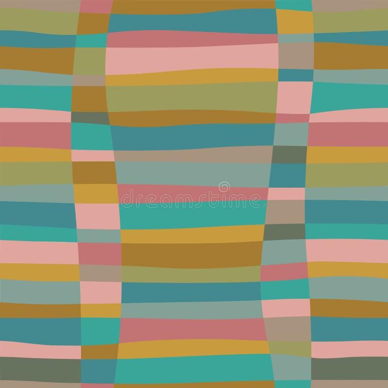 Modèle sans couture coloré de rétro problème abstrait à la mode avec les ctripes de tissage illustration libre de droits