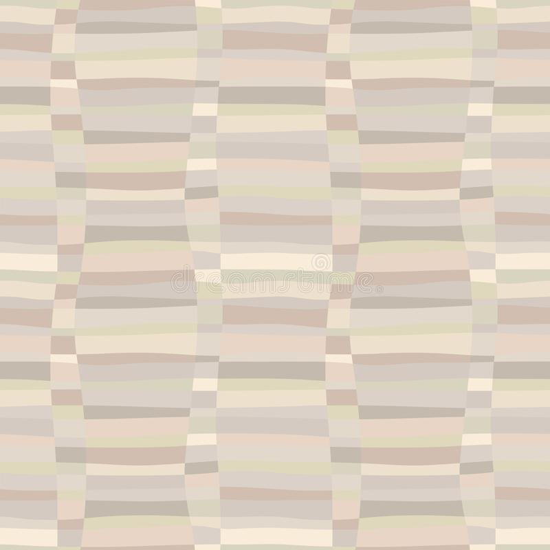 Modèle sans couture coloré de rétro problème abstrait à la mode avec les rayures de tissage illustration libre de droits