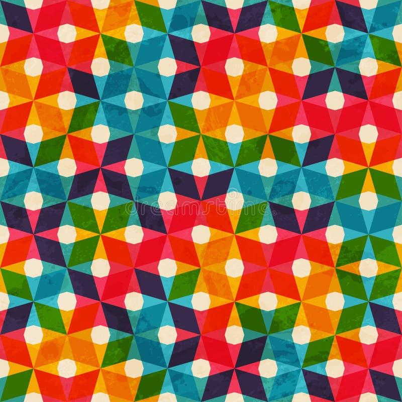 Modèle sans couture coloré de tissu illustration libre de droits