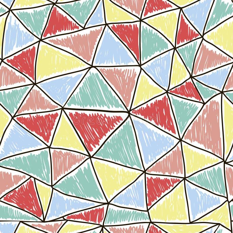 Modèle sans couture coloré géométrique avec des triangles abrégez le fond illustration de vecteur