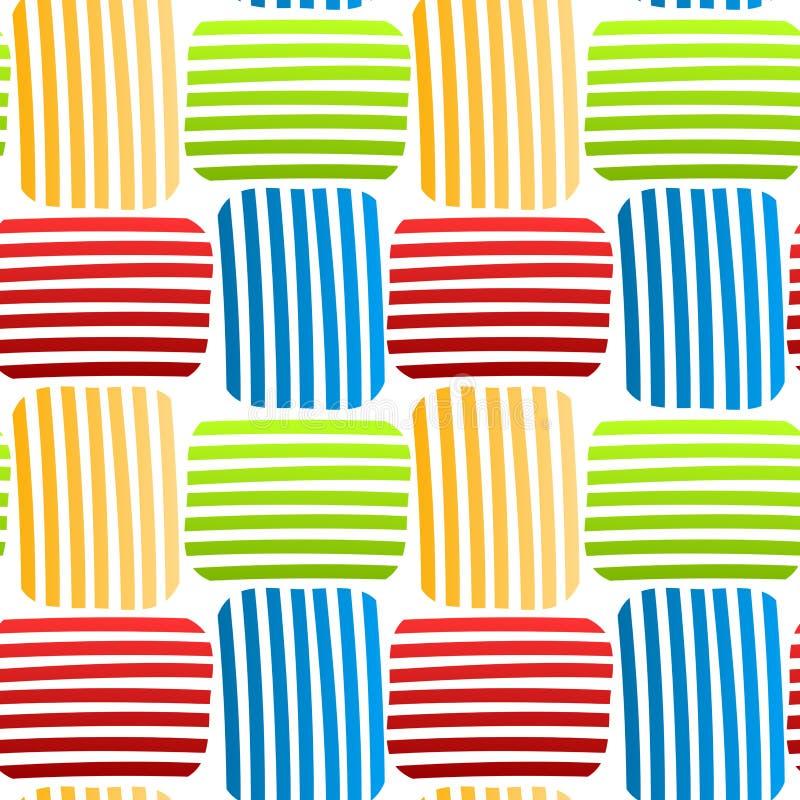 Modèle sans couture coloré tissé de rayures illustration libre de droits