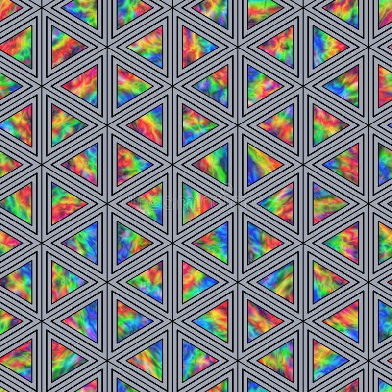 Modèle sans couture créatif des triangles olographes illustration stock