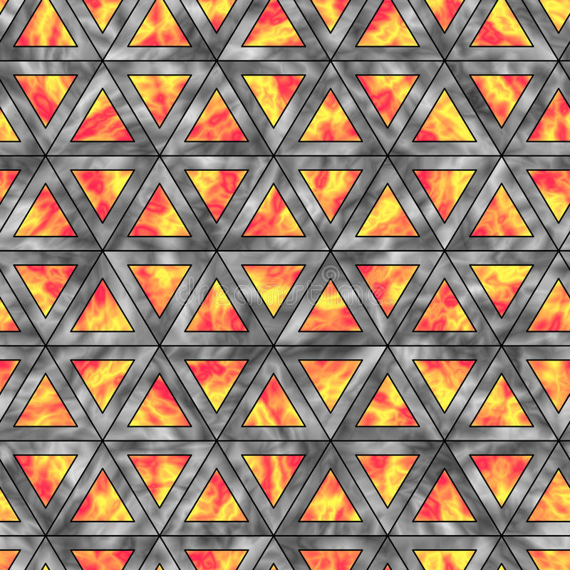 Modèle sans couture créatif des triangles olographes d'horizontal illustration stock