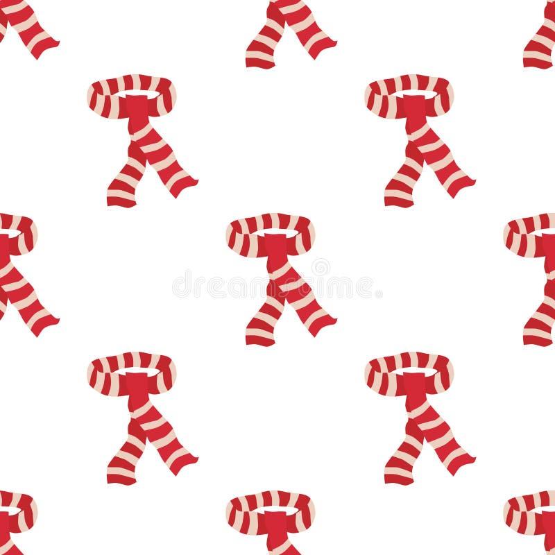 Modèle sans couture d'écharpe rouge illustration libre de droits