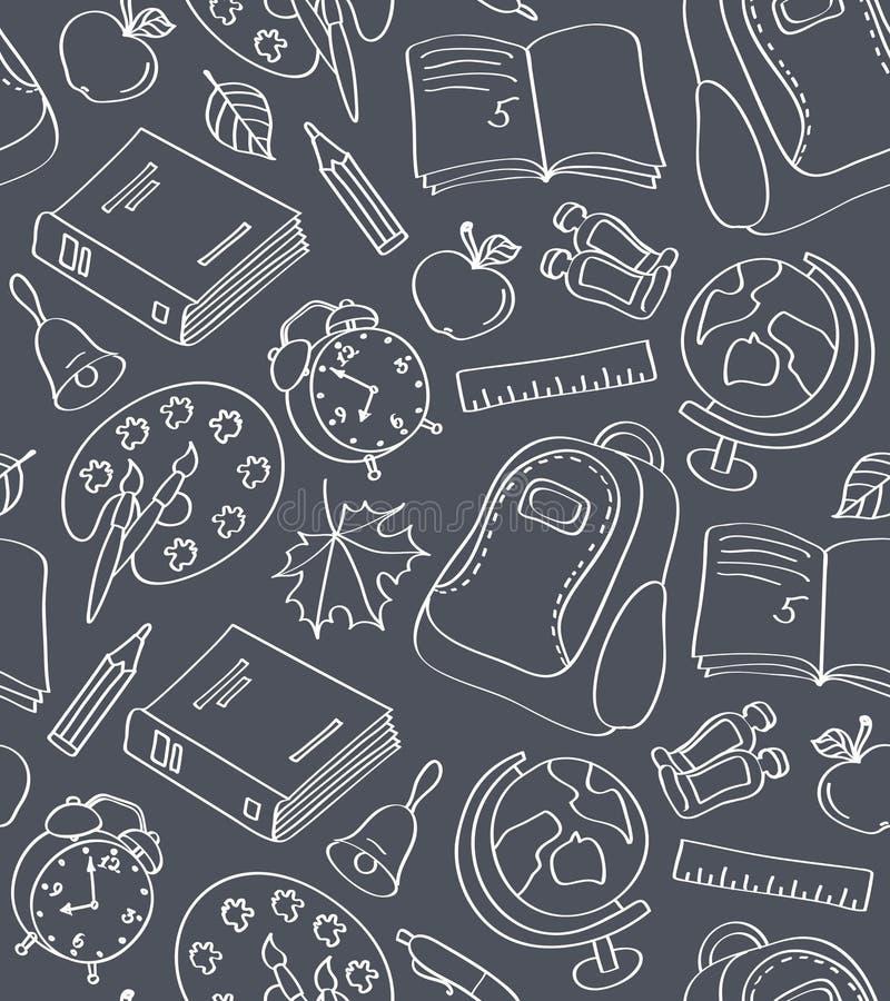 Modèle sans couture d'école illustration stock