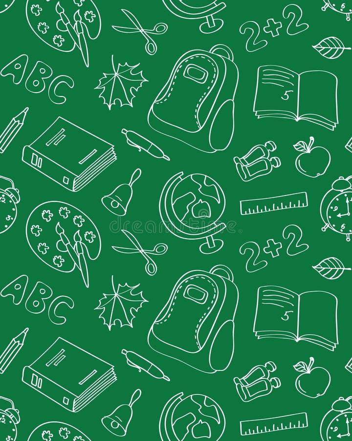 Modèle sans couture d'école illustration de vecteur