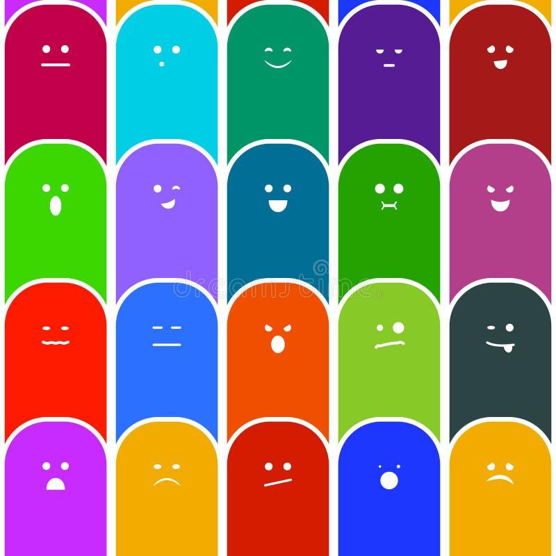 Modèle sans couture d'émotions illustration de vecteur