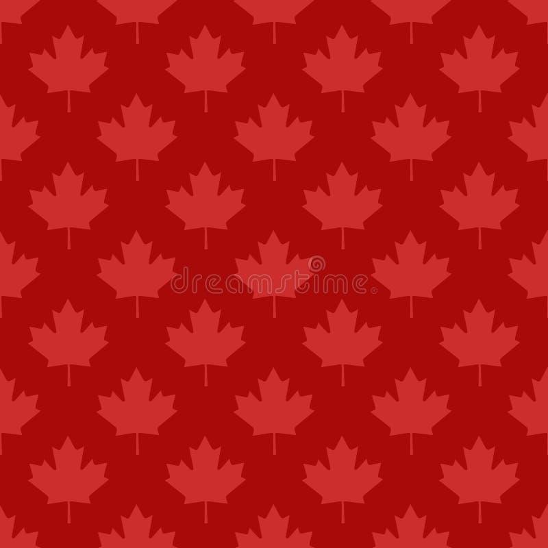 Modèle sans couture d'érable de symbole canadien de feuille illustration libre de droits