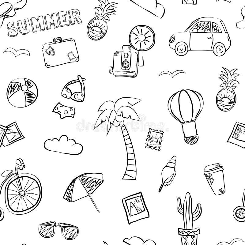 Modèle sans couture d'été de vecteur illustration libre de droits