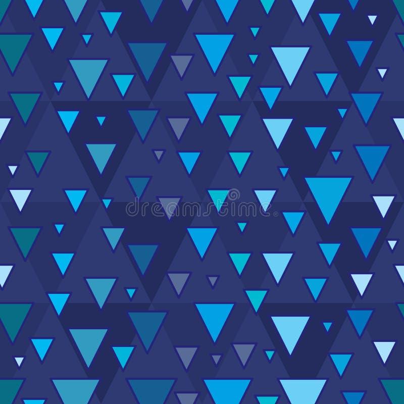 Modèle sans couture d'étape de triangle illustration stock