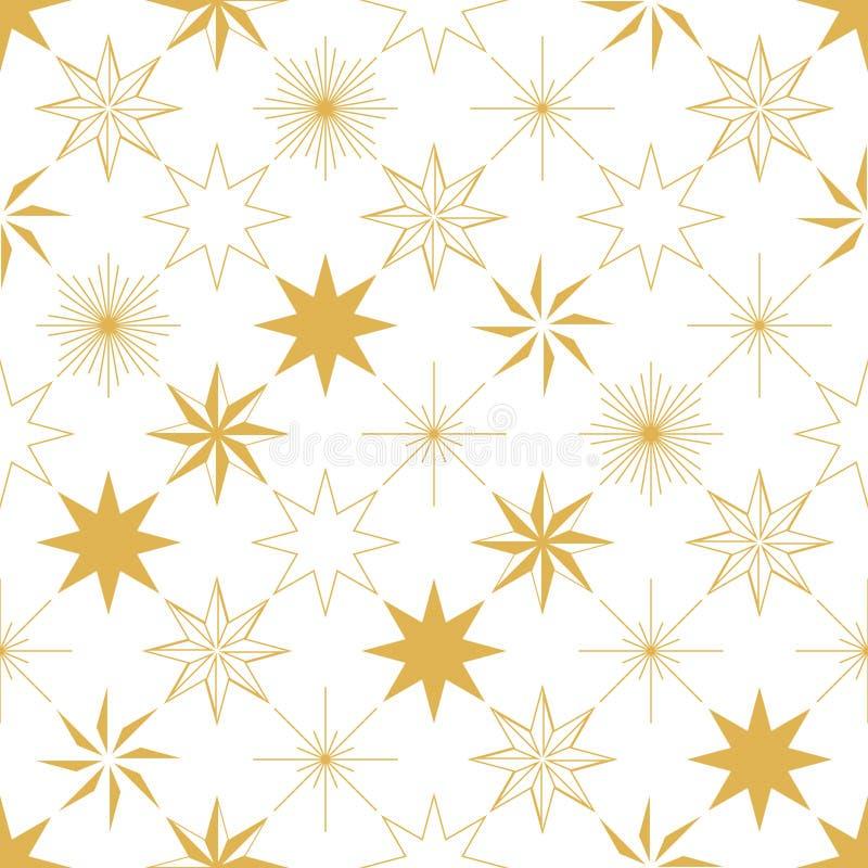 Modèle sans couture d'étoile de Noël illustration libre de droits