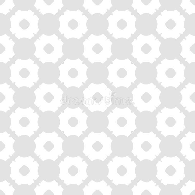 Mod?le sans couture d'abr?g? sur subtil vecteur Fond blanc et gris-clair ?l?gant illustration de vecteur